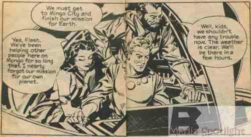 Flash Gordon Ice Monster heroes
